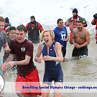2016 Special Olympics Chicago Polar Plunge at North Ave. Beach, Sunday, March 6, 2016, in Chicago, Ill. (Photo by Chicago PhotoPress)<br /> <br /> To download images, enter this password when prompted: thankyou<br /> <br /> Be sure to click the small red arrow in the bottom right corner of the page to advance to the next gallery page.<br /> <br /> For media inquires about the use of Special Olympics Chicago photography, or help downloading images, contact our photo team at Chicago PhotoPress - 312.462.4263 or info@chicagophotopress.com