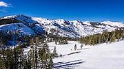 Alpine Meadows ski area, Squaw Valley, California