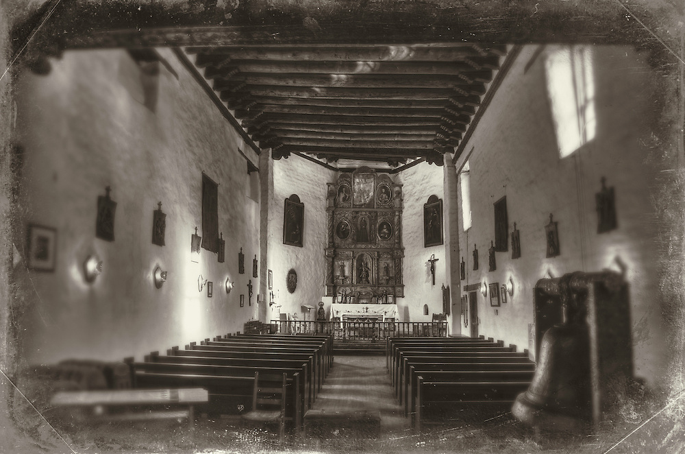 Inside of San Miguel Church, Santa Fe, New Mexico