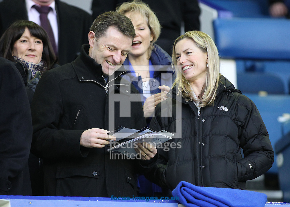 Picture by Michael Sedgwick/Focus Images Ltd +44 7900 363072<br /> 04/01/2014<br /> Kate and Gerry McCann attend the FA Cup match between Everton and Queens Park Rangers at Goodison Park, Liverpool.