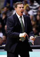 WEST LAFAYETTE, IN - DECEMBER 29: Head coach Tony Shaver of the William & Mary Tribe reacts to a call against the Purdue Boilermakers at Mackey Arena on December 29, 2012 in West Lafayette, Indiana. Purdue defeated William & Mary 73-66. (Photo by Michael Hickey/Getty Images) *** Local Caption *** Tony Shaver