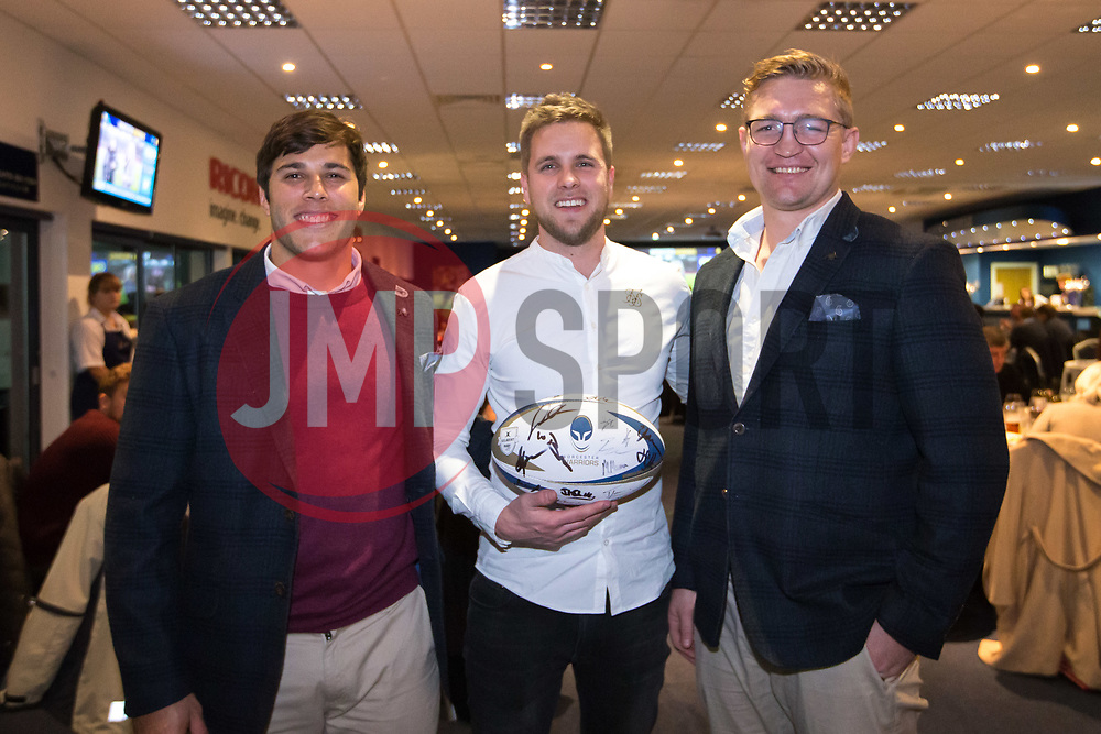Match ball sponsor with Dewald Potgieter and Dean Hammond of Worcester Warriors- Mandatory by-line: Robbie Stephenson/JMP - 22/12/2017 - RUGBY - Sixways Stadium - Worcester, England - Worcester Warriors v London Irish - Aviva Premiership