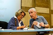 Roma 8 Settembre 2013<br /> Assemblea  in difesa della Costituzione.<br /> Sandra Bonsanti di Libert&agrave; e Giustizia,  Stefano Rodot&agrave;
