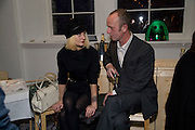 MISS JULIA; JOHNNY SHAND KYDD, Kate Grand hosts a Love Tea and Treasure hunt at Flash. Royal Academy. Burlington Gardens. London. 10 december 2008 *** Local Caption *** -DO NOT ARCHIVE-&copy; Copyright Photograph by Dafydd Jones. 248 Clapham Rd. London SW9 0PZ. Tel 0207 820 0771. www.dafjones.com.<br /> MISS JULIA; JOHNNY SHAND KYDD, Kate Grand hosts a Love Tea and Treasure hunt at Flash. Royal Academy. Burlington Gardens. London. 10 december 2008