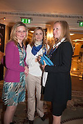 NATALIA GRESLIKOVA; KERSTIN OBERUER; CAROLINE CARTELLIERI KARLSEN, The Foreign Sisters lunch sponsored by Avakian in aid of Cancer Research UK. The Dorchester. 15 May 2012