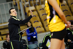 Giovanni Guidetti, head coach of VakifBank Istanbul, during the volleyball match between Calcit Ljubljana and VakifBank Istanbul at 2016 CEV Volleyball Champions League, Women, League Round in Pool B, 1st Leg, on November 26, 2016, in Hala Tivoli, Ljubljana, Slovenia.  (Photo by Matic Klansek Velej / Sportida)