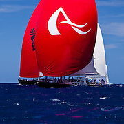 Avalon and Ganesha racing in the St. Barth's Bucket Regatta.