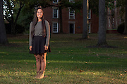 Amy Millesen, a College Credit Plus student at Ohio University's Athens campus, poses for a portrait on College Green on September 27, 2016.