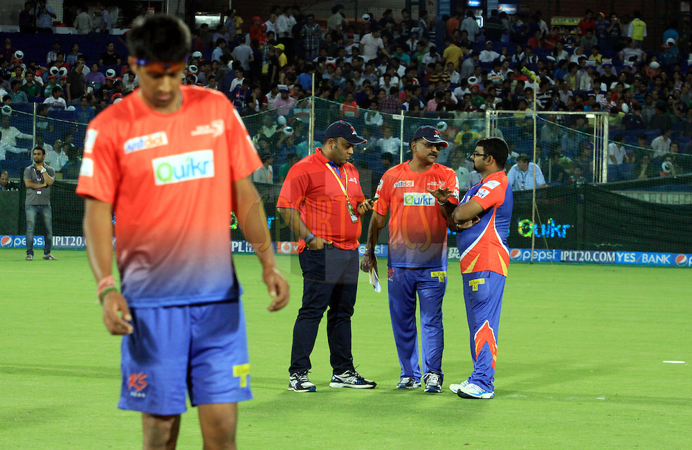Delhi Daredevils owner Kiran Gandh 2(L)during match 23 of the Pepsi Indian Premier League Season 2014 between the Delhi Daredevils and the Rajasthan Royals held at the Feroze Shah Kotla cricket stadium, Delhi, India on the 3rd May  2014<br /> <br /> Photo by Arjun Panwar / IPL / SPORTZPICS<br /> <br /> <br /> <br /> Image use subject to terms and conditions which can be found here:  http://sportzpics.photoshelter.com/gallery/Pepsi-IPL-Image-terms-and-conditions/G00004VW1IVJ.gB0/C0000TScjhBM6ikg