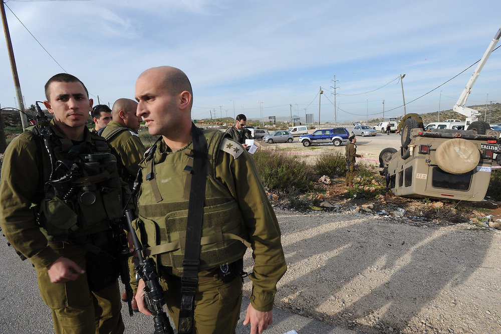 An Israeli soldier was stabbed to death by a Palestinian man in Tapuah Junction, Samaria on Feb 10, 2010.