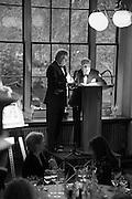 SIR TOM STOPPARD; SIR JOHN RICHARDSON;  , The London Library Annual  Life in Literature Award 2013 sponsored by Heywood Hill. The London Library Annual Literary dinner. London Library. St. james's Sq. London. 16 May 2013.