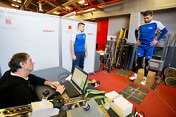 Urban Lesjak and Marko Bezjak on psychophysical tests at Faculty of Sports before tomorrow's handball match between the national teams of Slovenia and Croatia, on October 17, 2017 in Faculty of Sports, Ljubljana, Slovenia. Photo by Urban Urbanc / Sportida