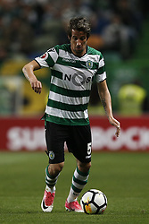 April 18, 2018 - Lisbon, Portugal - Sporting's defender Fabio Coentrao in action  during Portuguese Cup 2017/18 match between Sporting CP vs FC Porto, in Lisbon, on April 18, 2018. (Credit Image: © Carlos Palma/NurPhoto via ZUMA Press)