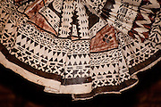 Traditional polynesian tapa cloth design