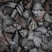Hisat'sinom, those who lived here before - a Hopi word, describing the ancient ones. It was the women who made the pottery. Both women are Hopi and were photographed around 1900.
