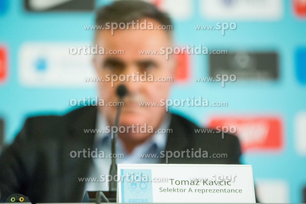 Tomaz Kavcic during Press conference of Football Association of Slovenia, on December 4, 2017 in National Football Centre, Brdo pri Kranju, Slovenia. Photo by Ziga Zupan / Sportida