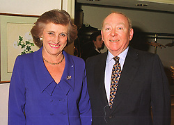 SIR TIM & LADY GOSWELL, he is chairman of the Brent Walker Group PLC. at a lunch in london on 10th December 1998.MMW 16