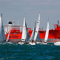 Fleet, Nomansland Fort, Round the island Race, 2008, Cowes, Isle of Wight, England,