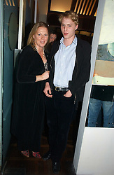 VISCOUNTESS GORMANSTON and her son HARRY GRENFELL at a party to celebrate the publication of 'The year of Eating Dangerously' by Tom Parker Bowles held at Kensington Place, 201 Kensington Church Street, London on 12th october 2006.<br /><br />NON EXCLUSIVE - WORLD RIGHTS