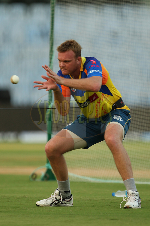 Doug Bollinger during the practice session of the Chennai Super Kings and Mumbai Indians held at the MA Chidambaram Stadium in Chennai, Tamil Nadu, India on 2 April 2012...Photo by Jacques Rossouw/BCCI/SPORTZPICS .