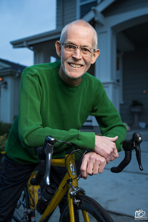 Mike Elliott poses for a portrait at his home in Livermore, California, on November 19, 2016, for a Good Samaritan Hospital Oncology & Radiology feature. (Stan Olszewski/SOSKIphoto)