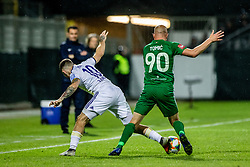 Dino Hotic of NK Maribor vs Tomic Tomislav of NK Olimpija Ljubljana during a football game between NK Olimpija Ljubljana and NK Maribor in Final Round (18/19)  of Pokal Slovenije 2018/19, on 30th of May, 2014 in Arena Z'dezele, Ljubljana, Slovenia. Photo by Matic Ritonja / Sportida