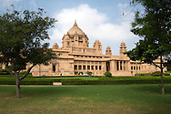 Umaid Bhawan Palace in Jodhpur is one of the world's largest private residences with 347 rooms.  The palace serves as the residence of the Jodhpur royal family and as a local attraction.  The palace was built to provide employment to thousands of people during a time of famine in India.