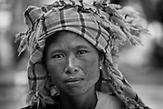 Myanmar. Woman at Aungban weekly market. Shan State.