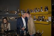 JOSE BAPTISTA; NICHOLAS WILLS, The preview of LAPADA Art and Antiques Fair. Berkeley Sq. London. 21 September 2015.