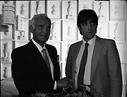 Mr. Mike Butt owner of Golden Orient Restaurant with his son David, 27th Leeson Street, Dublin,<br /> 14th May 1984