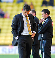 Photo: Leigh Quinnell.<br /> Watford v Hull City. Coca Cola Championship. 20/10/2007. Hull boss Phil Brown unhappy with the loss.