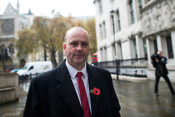 © London News Pictures. 04/11/2015. London, UK. Chip shop owner BARRY BEAVIS outside the Supreme Court in London after a judge at the UK's highest court ruled against him in a over parking charges case. Beavis, from Chelmsford, Essex, was challenging private parking operators who charged him £85 for overstaying his two hours of free parking. Photo credit: Ben Cawthra/LNP