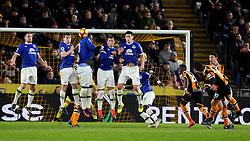 Robert Snodgrass of Hull City scores from a free kick to make it 2-1 - Mandatory by-line: Matt McNulty/JMP - 30/12/2016 - FOOTBALL - KCom Stadium - Hull, England - Hull City v Everton - Premier League