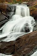 Water fall in late Autumn on the Towaliga River. Jackson, GA