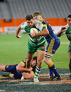 Cullum Gibbins in action for Manawatu in the ITM Cup Rugby Match. Otago v Manawatu at Forsyth Barr Stadium, Dunedin, New Zealand. Friday 10 October 2014. New Zealand. Photo: Richard Hood/photosport.co.nz