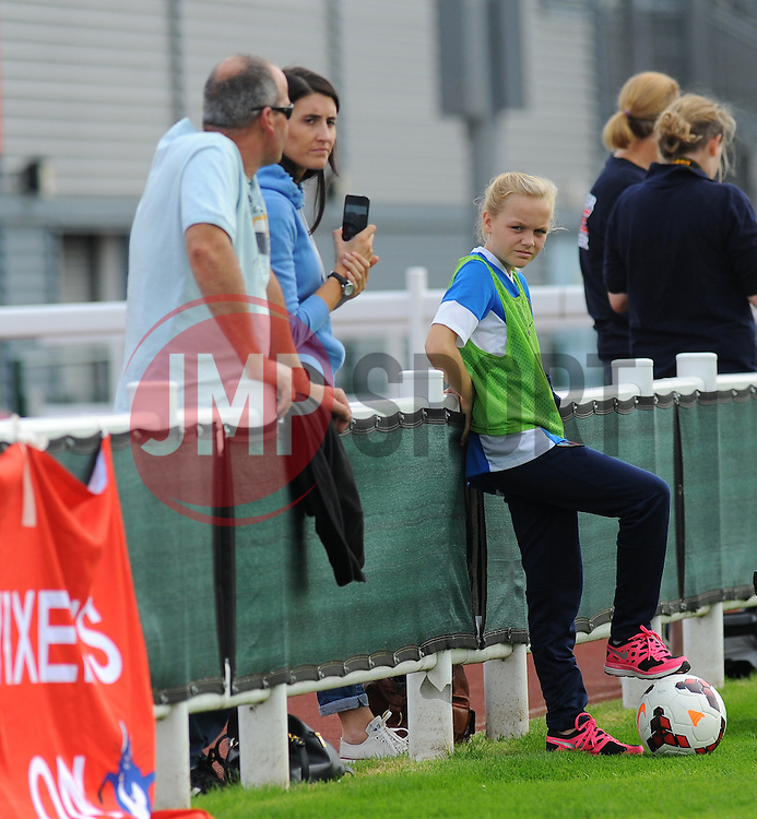 Bristol Academy Womens' Ball Girl during first half.- Photo mandatory by-line: Nizaam Jones- Mobile: 07583 387221 - 28/09/2014 - SPORT - Women's Football - Bristol - SGS Wise Campus - BAWFC v Man City Ladies - sport