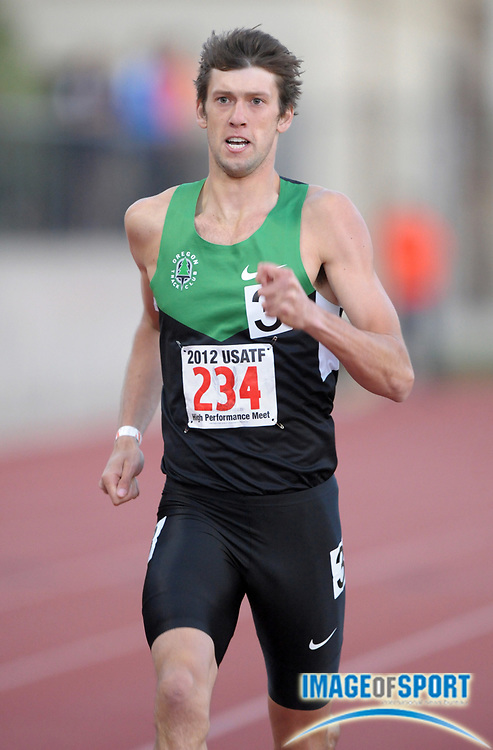 May 18, 2012; Los Angeles, CA, USA; Andrew Wheating places second in 800m heat in 1:46.83 in the 2012 USATF High Performance meet at Occidental College.
