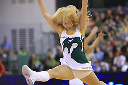 Cheerleaders Zmajcice at basketball match of 3rd Round of Euroleague between KK Union Olimpija (SLO) and Lottomatica Roma (ITA), in Arena Tivoli, Ljubljana, Slovenia, on November 6, 2008. Lottomatica  won the match 78:67.