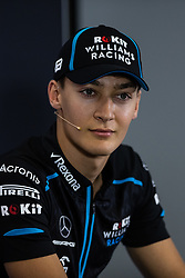 May 9, 2019 - Barcelona, BARCELONA, SPAIN - BARCELONA, CATALONIA, SPAIN 9 of May. George Russell driver of Williams during the official press conference before the Spanish GP at Circuit de Barcelona Catalunya (Credit Image: © AFP7 via ZUMA Wire)