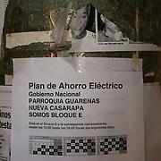 Plan de ahorro electrico en la Urbanizacion Nueva Casarapa, Guarenas, Estado Miaranda en donde se aprecia la falta del servicio electrico 13-01-2010. Photography by Aaron Sosa