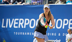 LIVERPOOL, ENGLAND - Sunday, June 21, 2015: Elena Bogdan (ROM) during Day 4 of the Liverpool Hope University International Tennis Tournament at Liverpool Cricket Club. (Pic by David Rawcliffe/Propaganda)