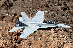 United States Marines McDonnell Douglas F/A-18C Hornet from the VMFAT-101 Sharpshooters squadron, Marine Corps Air Station Miramar, California, Jedi Transition, Star Wars Canyon, Death Valley National Park, California, United States of America