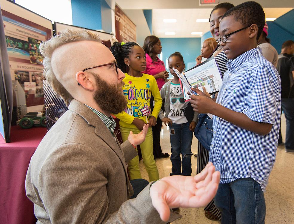 School choice open house at Jordan HS, October 3, 2015.