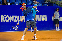 Fabio Fognini (ITA) during a tennis match against the Damir Dzumhum (BIH) in first round of singles at 26. Konzum Croatia Open Umag 2015, on July 22, 2015, in Umag, Croatia. Photo by Urban Urbanc / Sportida