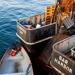 A commercial fishing boat in bar Harbor, Maine.