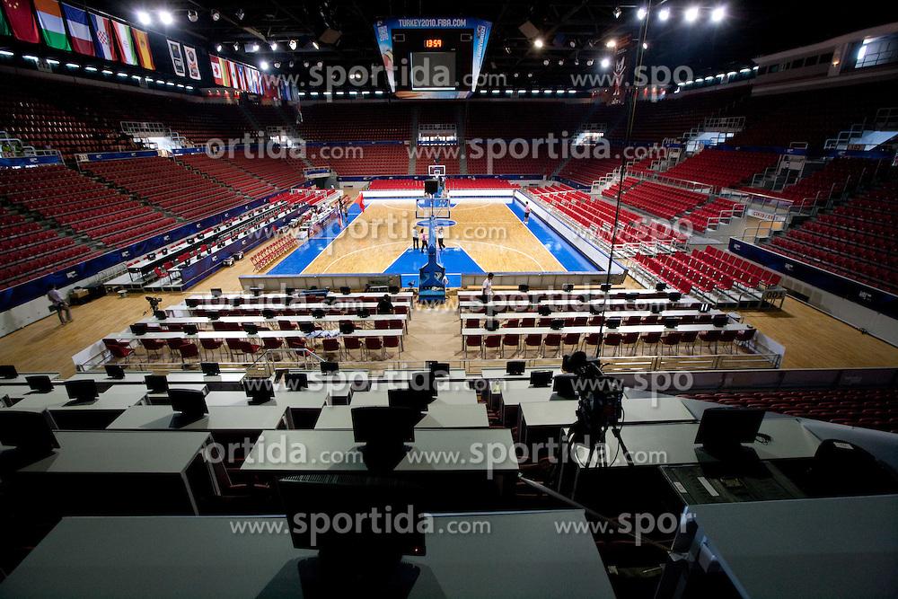 Media positions in Abdi Ipekci Arena - Abdi Ipekci Spor Salonu na Ulasim two days prior to the 2010 FIBA Basketball World Championship, on August 26, 2010, in Istanbul,Turkey. (Photo by Vid Ponikvar / Sportida)