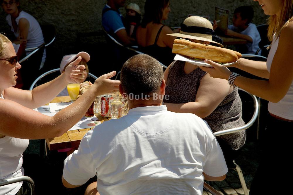 lunch time at a famous tourist destination France