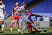Jack Clarke of Leeds United U23 shoots during the U23 Professional Development League match between U23 Crystal Palace and Leeds United at Selhurst Park, London, England on 15 April 2019.
