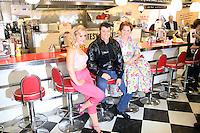 Cheryl Baker; Ben Freeman; Heidi Range, Happy Days: A New Musical - photocall, Ed's Easy Diner, London UK, 08 January 2014, Photo by Richard Goldschmidt