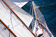 Summer Wind sailing in race 1 during the Newport Bucket Regatta.